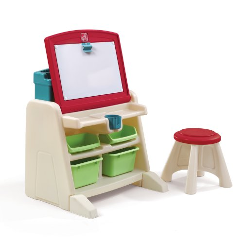 Step2 Flip and Doodle Desk with Stool Easel by...