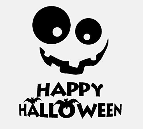 DIY Wandaufkleber Lächeln Halloween Urlaub Kunst Wohnkultur Geschenk Aufkleber für wohnzimmer schlafzimmer kinderzimmer 56x61 cm