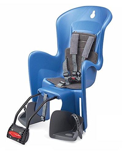 Polisport BILBY MAXI FF Fahrrad Kindersitz für hinten Blau Grau