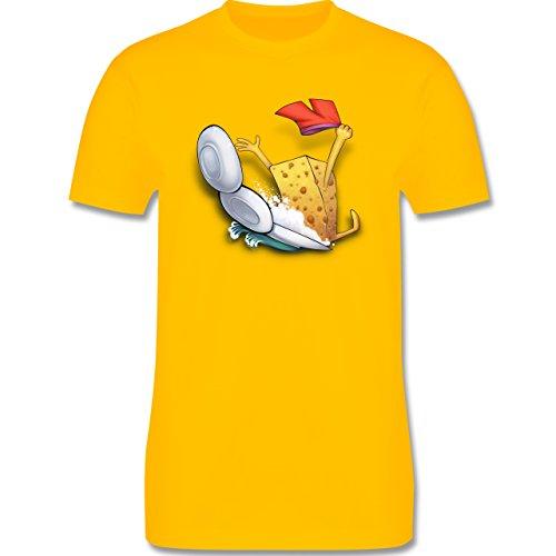Comic Shirts - Spülschwamm - Wasserrutsche - Herren Premium T-Shirt Gelb
