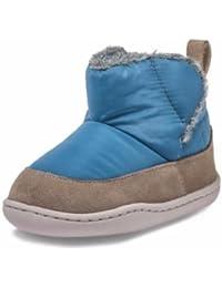 Little Blue Lamb–Zapatos para bebé unidad lernschuhe Booties Botas Nylon ante combinado 38638Azul
