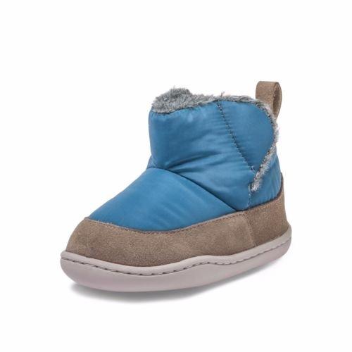 Pouco Azul Cordeiro Sapatos De Bebê Walker Sapatos Botas Botas De Camurça Nylon Combinatória 38638, Tamanho: 18-24 Meses, Cor: Azul