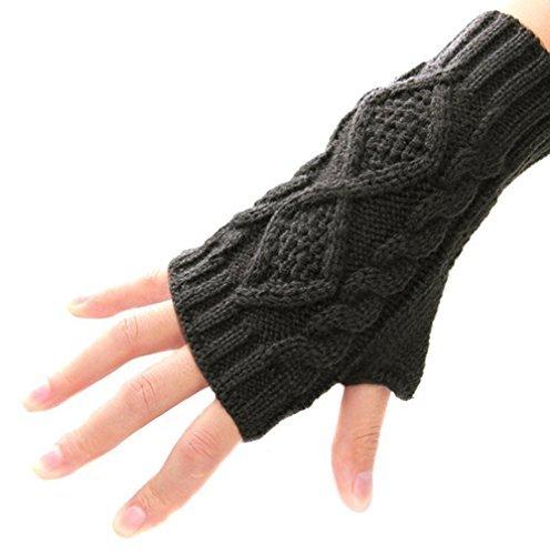 Armstulpen Damen-accessoires 1 Paar Frauen Mädchen Streifen/solide Loch Halbe Handschuhe Winter Lange Arm Handschuhe Arm Wärmer Hülse Handschuhe Weich Und Leicht