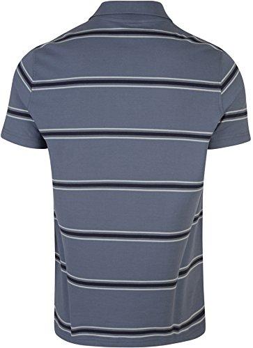 CANTERBURY Herren England Baumwolle Stripe Jersey Polo Shirt grau - Folkstone Grey