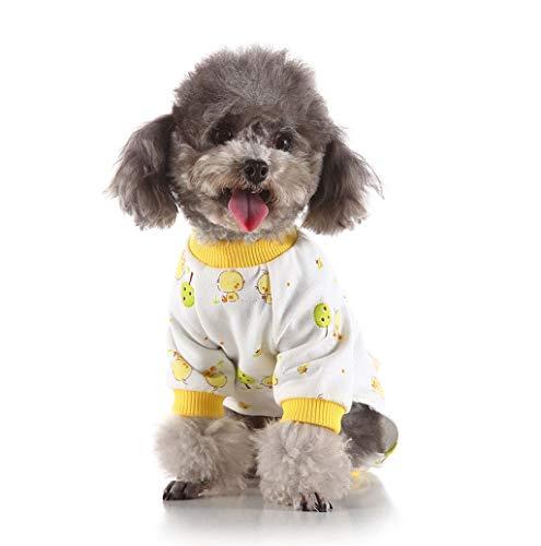 Haustierbekleidung,TWBB Puppy Katzen Hunde Pyjamas Cozy Soft Jumpsuits Hund Schlafanzug Baumwolle Kleine Hund Winter Schlafanzüge Hund Kleid Dackel Chihuahua Yorkie Kleidung Outfits Apparel -