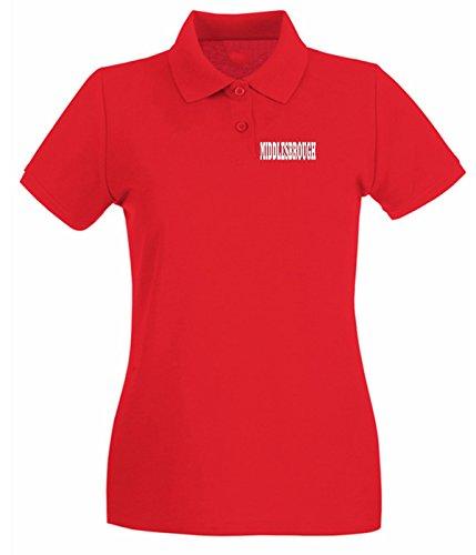 T-Shirtshock - Polo pour femme WC0746 MIDDLESBROUGH Rouge