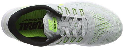 Nike Free Run, Zapatos Para Correr Para Mujer, Gris (pure Platinum / Volt-black-wolf Gray)