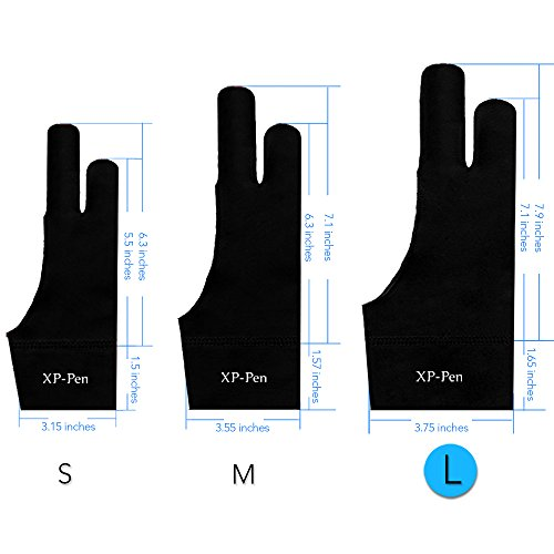 xp-pen-drawing-anti-fouling-lycra-graphics-two-finger-glove-s-m-l-size-l-