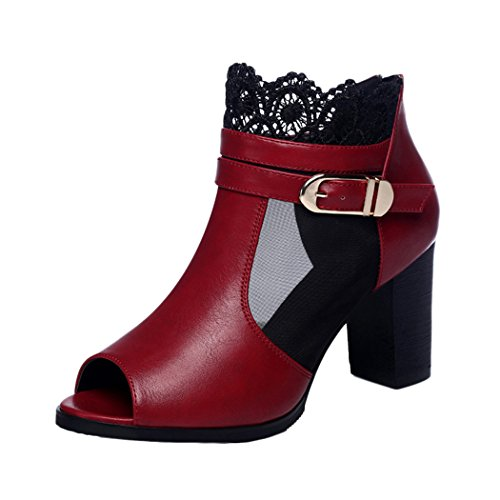 gheaven-women-fashion-mesh-lace-buckle-up-thick-heel-booties-shoes-zipper-back-4-uk-red
