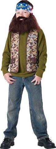 Dynastie De Duck Duck Costume - Duck Dynasty Willie Child Costume, Size Medium/8-10