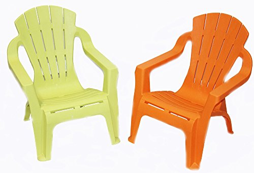 Design Kinder Stapel Stuhl Sessel orange (Orange)