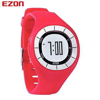 HISTON Ezon Art und Weise Gummi Uhr Frauen bunte Uhr Sportuhren Geschwindigkeit Pedometer Kalorien Zähler digitale Armbanduhr läuft