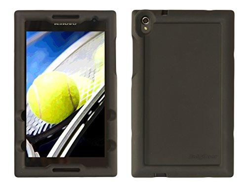 BobjGear Bobj Silikon-Hulle Heavy Duty Tasche für Lenovo Tab S8-50 Schutzhulle (Schwarz)