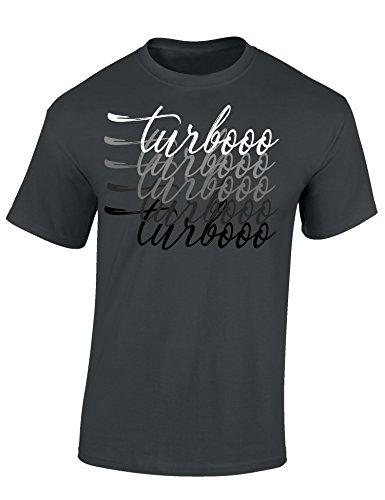 Petrolhead: Turbooo Turbooo - Geschenk für Autoliebhaber - T-Shirt für alle Tuning-, Drift-, und Motorsport Fan - Auto T-Shirt Herren Shirt - Geschenk Auto - Auto-Fahrer (L) (Fun-auto-zubehör)