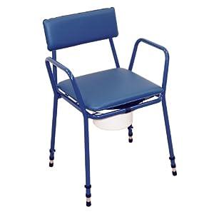 Aidapt VR161BL Höhenverstellbarer Toilettenstuhl Essex, blau