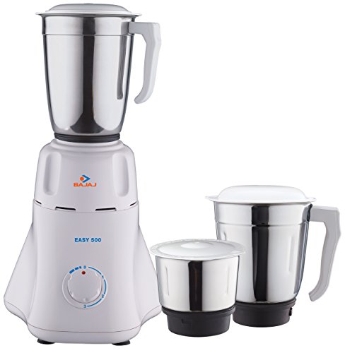 Bajaj Easy 500W Mixer Grinder (White, 3 Jar)
