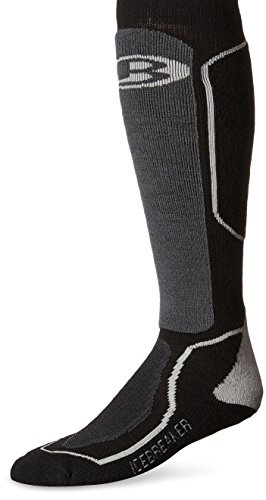 Icebreaker Ski+ Medium Chaussettes de ski Homme Black/Oil/Silver FR : chaussettes : 43-46 (Taille Fabricant : M)