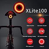 Luce Posteriore per Bici Ricaricabile USB, Accensione / Spegnimento Automatico, Rilevamento dei Freni, Luci a LED ad Alta Intensità per Biciclette Rosse Adatte a Qualsiasi Bici da Strada