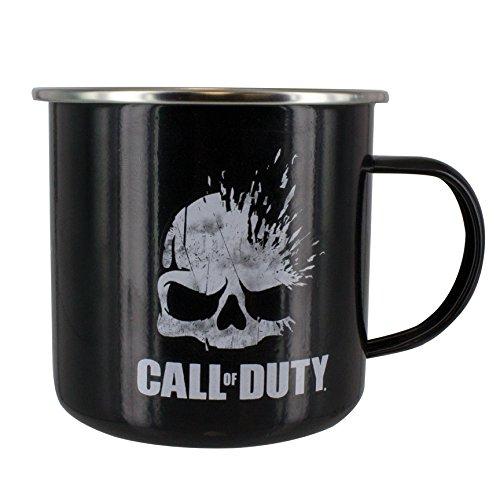 Paladone Call of Duty Metall Tasse Skull Logo, Weißblech, Mehrfarbig 10 x 13 x 9 cm 2
