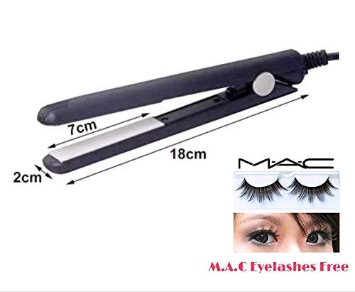 Aorna Styler Mini Hair Straightener with free M.A.K false eyelash