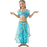 Lito Angels Little Girls Princess Jasmine Dress Up Costume Belly Dance Costume Outfit