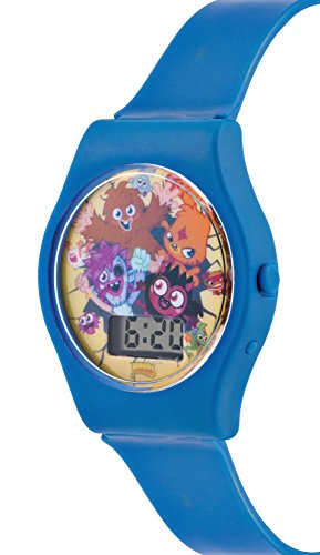 Image of Moshi Monsters Children's Digital Watch with Multicolour Dial Digital Display and Blue PU Strap MM018