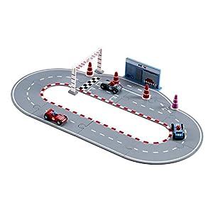 Kids Concept- Vehículos de jugueteCircuitos y playsets para Coches de juguetesKids ConceptRacing Car Set Blue, Multicolor (1)