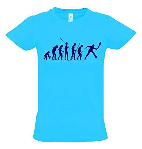 TENNIS Evolution Kinder T-Shirt sky-navy, Gr.140cm