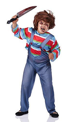 Disfraz de Muñeco diabolico infantil - de 8 a 10 años, Halloween