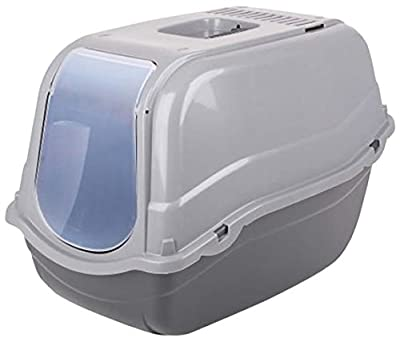 Urban Living Hooded Pet Toilet Cat Litter Tray Pet Flap Carry Handle Easy Clean