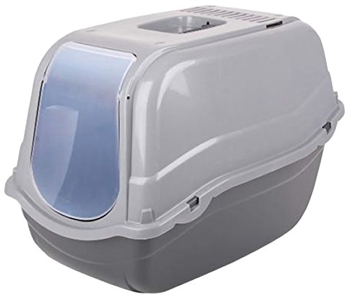 dogi-click-and-secure-pet-cat-litter-tray-toilet-box-grey