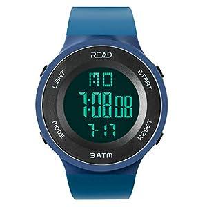 Read Herren Digitaluhr Outdoor Sportuhren mit Alarm Stoppuhr Kalender LED-Anzeige R90003