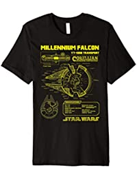Star Wars Gold Millennium Falcon Schematics Graphic T-Shirt