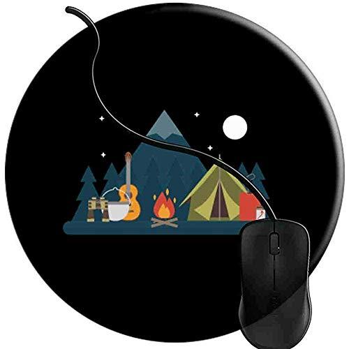 Schreibtischunterlage,Road Trip Camping Zelte Living Life Nomad Reise Mauspads Rutschfeste Gummibasis Schreibtisch Matte Mousepads Für Home Office Computer 20 * 20 Cm