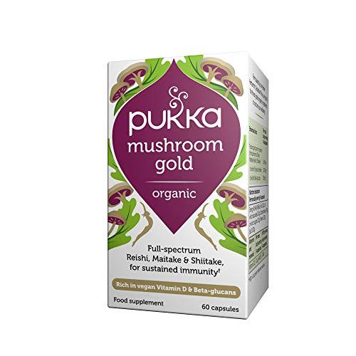 Pukka Herbs Seasonal - Mushroom Gold (Maitake, Reishi & Shiitake) 60 Caps