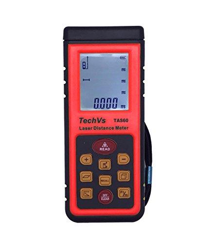 New techvs Marke 60m/196ft Mini Handheld Digital Laser Point Entfernungsmesser Maßband Entfernungsmesser Laser Tape Meßlineal Werkzeug Bj Winkel Volumen Test Werkzeug LCD-Display–UK Versand