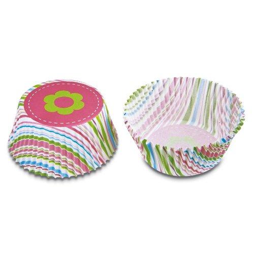 Haus Maxi Streifen Papier Backblech, Mehrfarbig, 50Stück -
