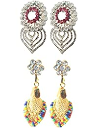 Oxidised Earrings With Gold Stone Studded Designer Jhumki Combo Offers 21