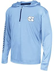 "North Carolina Tarheels Youth NCAA ""Sleet"" 1/4 Zip Pullover Hooded WindShirt Chemise"