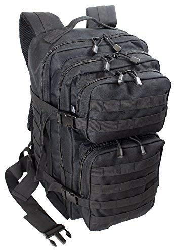 EXTREM Großer Rucksack 50 Liter Backpack Outdoor Robuster Multifunktions Military Rucksack für Backpacker | Schwarz (4076)