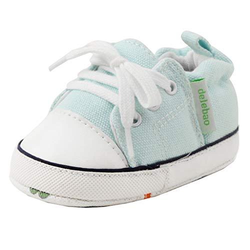 Produp Neugeborenen Canvas Sneaker Anti-Rutsch-Lauflernschuhe Weiche Sohle Mädchen Jungen Schuhe für Unisex Baby (Canvas Schuhe Distressed)