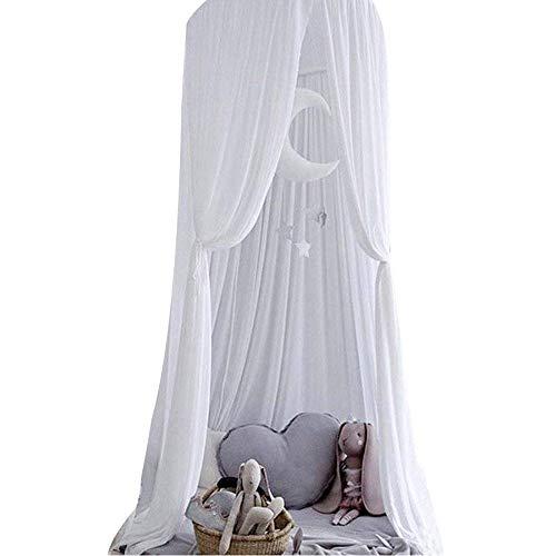 Cupola a baldacchino per bambini, zanzariera per culla, in cotone, rotonda, tenda da gioco, decorazione per interni