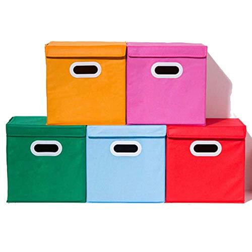 Homieco 2 Stück Stoff Faltbare Aufbewahrungsboxen Organizer Kleidung Brust Multifunktions stapelbar Cube Box für Kleiderschrank Regale, rot (Schubladen Kunststoff-speicher-cubes)