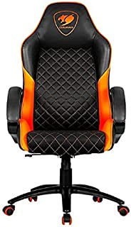 Cougar Gaming Chair Fusion, 120Kg Weight Capacity, Height Adjustment, Metal 5-Star Base