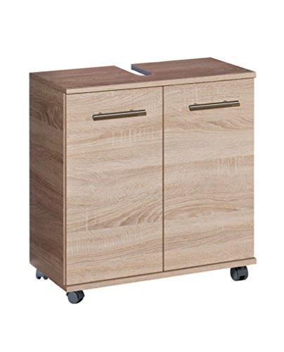 Schildmeyer Waschbeckenunterschrank, Holzdekor, Sonoma Eiche, 32.6 x 59.8 x 63.4 cm