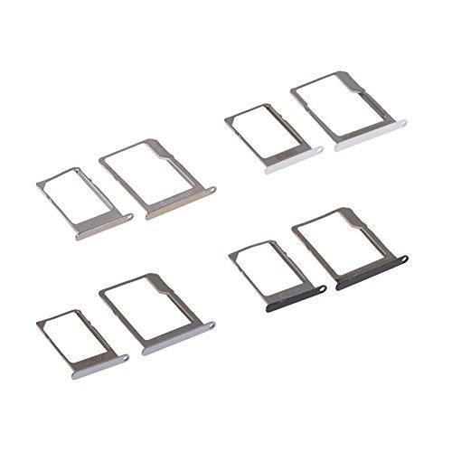 Winbang SIM Slotblech-SIM-Kartehalter, 2 Stück aus Metall, für Samsung Galaxy Ersatz-Papier, Weiß -