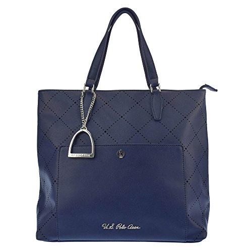 U.S.POLO ASSN. Handtasche, große Griffe 32-36x14x31 cm (Damen-handtaschen-polo)
