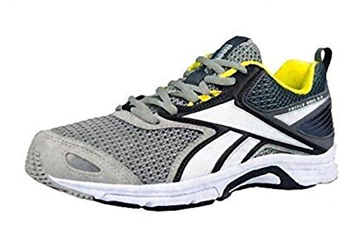 Reebok Women's Triplehall 5.0 Running Shoes, Grey / Black / White / Yellow  (Tin