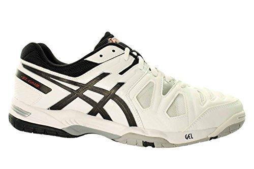 ASICS Gel-Game 5 Clay, Tennis Hommes (White/Onyx/Chinese Red 199)