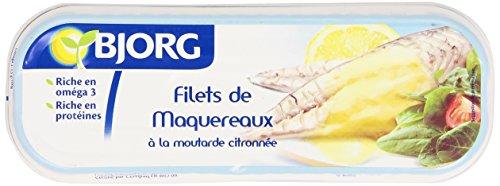 Bjorg Filets de Maquereaux Moutarde citronnée Bio 169 g